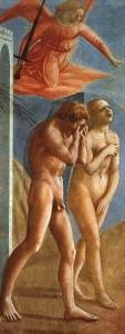 """Masaccio, """"Cacciata dei progenitori dall'Eden"""""""