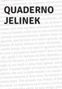 Copertina del Quaderno Jelinek a cura di Altre Velocità
