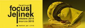 Copertina del Catalogo del Festival Focus Jelinek con un'immagine di Claudio Parmiggiani