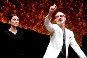 Francesco Manetti (Luca Cupiello) e Monica Piseddu (sua moglie Concetta) - foto di Brunella Giolivo